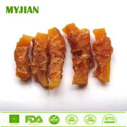 Enveloppement de poulet de la Patate douce Pet Treats Chien Aliments secs