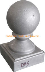 Poste d'ornement de clôture en aluminium moulé casquette