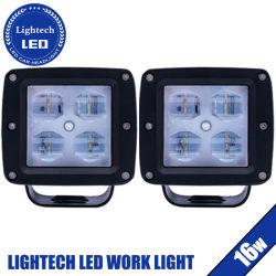 Lightech Offroad grande Luz interna direcionável 16W 3inch vagens vermelho azul mancha branca Luz de Trabalho de LED para 12V jipes caminhões UTV ATV