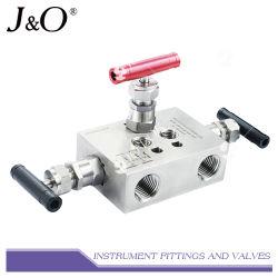 Instrumento de drenagem de aço inoxidável do coletor da válvula