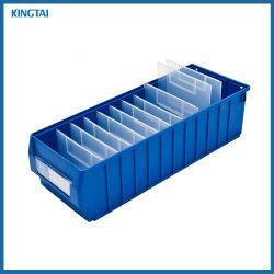 高品質の倉庫のオフィスの研修会の使用のプラスチックスタック可能引出しの記憶の棚の大箱の予備品の大箱