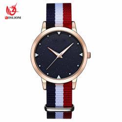 De nieuwe Koreaanse Versie van de Manier van de Eenvoudige Toevallige Nylon Horloges van het Kwarts van de Studenten van de Riem - V146