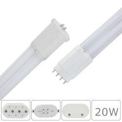 LED de alta potencia 20W 2G11 de 180 grados de la luz de la luz del tubo LED balasto magnético