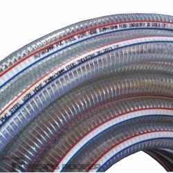 Hélice de arame de aço transparente Non-Toxic mangueira de PVC produtos de PVC