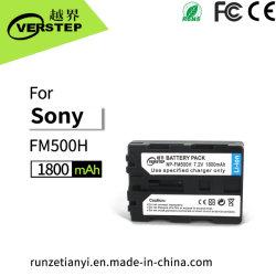 câmara digital da Sony bateria NP-FM500H de bateria recarregável de 1800 mAh