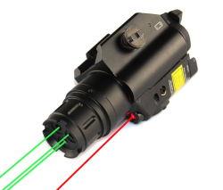 Taktischer Gewehr-Pistole-Waffen-Anblick dreifachen Grün-Lasers mit dem oberen einzelnen Rot-Laser-Bereich kombiniert (ES-TR-L2-RG)