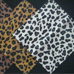 Grãos Leopard PU para calçados de couro artificial Mg24