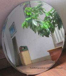 Salle de séjour de l'argent ronde décoratif miroir mural