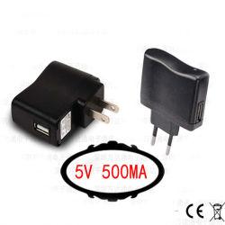 5V 500mA carregador USB para Home Travel Smart Phone/MP3/MP4/MP5/