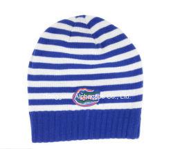 2016 Grande Fashion Rugby Stripe Beanie Cap Bleu