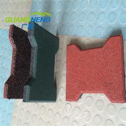 Granulés de caoutchouc recyclé pavés de bloc en T en caoutchouc pour l'écurie