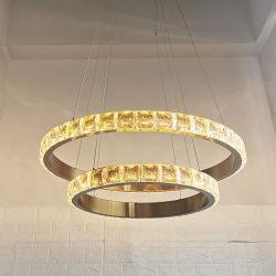 Los grandes candelabros de cristal de gama alta el vestíbulo del hotel lámpara colgante Lámpara de pantalla