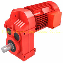 La serie F de Motor de accionamiento de la llave del eje hueco sólido paralelo el engranaje reductor de velocidad con la brida