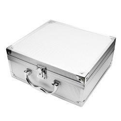 대형 알루미늄 합금 여행용 타투 키트 케이스 전문가 메이크업 잠금-실버 손톱 아티스트인 휴대용 박스 오거나이저 홀더