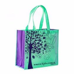 De PP Nonwoven Non-Woven Supermercado comercial de Rótulo Ecológico Resuable recicláveis Mala Sacola grande