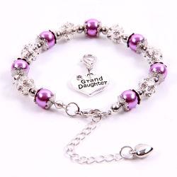 Petite-fille Bracelet Don Rhinestone boules de cristal faux bijoux en perles