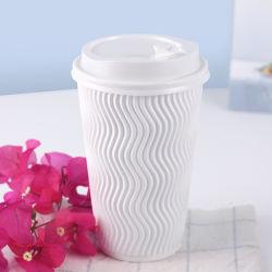 8oz jetable 12oz 16oz Mur d'ondulation du papier pour la Coupe du café chaud des boissons de l'usine Ziheng
