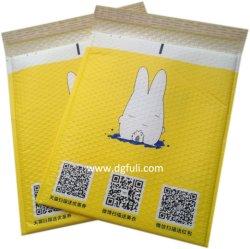 カスタマイズされたロゴは安全テープが付いている再生利用できるプラスチック耐震性の泡メールのパッキング袋を印刷した