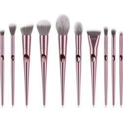 Горячая продажа 10ПК Набор щеток для макияжа с пластиковой ручкой