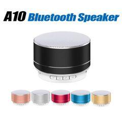 O melhor preço Boa qualidade A10 Metal portáteis sem fios Mini caixa de som do alto-falante Bluetooth ativa logotipo personalizado melhor presente de Natal