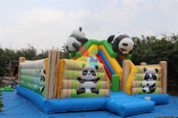 Aufblasbares Panda-Park-Springen kombiniert