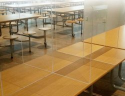 「 Social Distance Restaurant Dining Table Partition Acrylic Panel 」