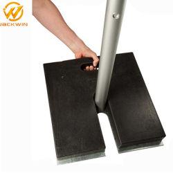 20 libras o 30 libras de caucho negro reciclado duradera señal Base de pedestal