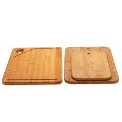 Ustensiles de cuisine en bambou naturel antibactérien carbonisée Planche à Découper/planche à hacher