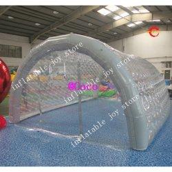 6x4x3m de haut Couverture de piscine Gonflables géants plafond, sphère claire aérien commercial de la Dome pour piscine de l'eau
