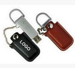 100% la capacidad real de color marrón de cuero de color negro modelo USB Flash Drive USB 2.0 de 4 GB y 8GB 16GB 32 GB Pendrive de regalo (TF-0072)