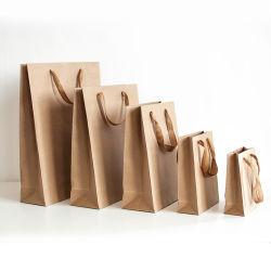 方法デザインはロゴによって印刷されたギフト包装ロープのハンドルのアートペーパーのショッピング戦闘状況表示板の買物袋をカスタマイズした