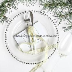 웨딩 이벤트 식품용 유리 충전기 플레이트