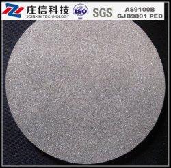 Mícron sinterizado de titânio em pó de espuma do filtro poroso Disc