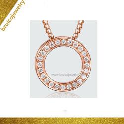 새로운 모방 패션 쥬얼리 14K 로즈 골드 컬러 목걸이 여아용 다이아몬드