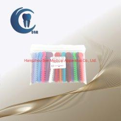 La legatura ortodontica dei prodotti dentali lega i moduli degli elastici in 48 colori