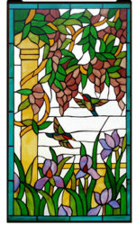 Diseño personalizado de vidrieras artesanales de la ventana del Panel de estilo Tiffany