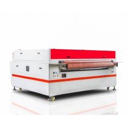 Auto het Voeden van de Controle van de Grootte DSP van Aol van Jinan Grote Kleding de TextielLaser van Co2 van de Stof van het Leer Scherpe Machine