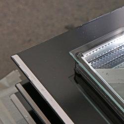 Dégivrage automatique 3,2+12UN+4mm Low E porte en verre de vin congélateur vertical du refroidisseur