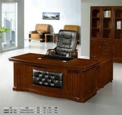 Mobilier de bureau classique en bois de la Chine Forme de l'avant la conception de bureau avec le côté armoire avec tiroir table de bureau en bois (conception de la FECA2038)