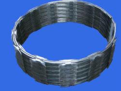 Type de fil en acier galvanisé Hot-Dipped barbelés de bandes de rasoir pour la défense