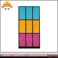 更衣室 9 ドアメタルロッカーボックス(ロックおよびキー付き