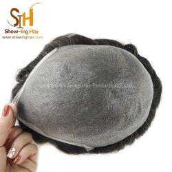 Наиболее востребованными на складе сверхтонкий кожу базы человеческого волоса Toupees мужчин Toupees