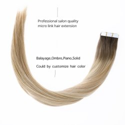 Capelli di trama 100% del nastro dell'unità di elaborazione del brasiliano della pelle di estensione dei capelli umani di Remy del Virgin di prezzi di fabbrica R#6-18-613