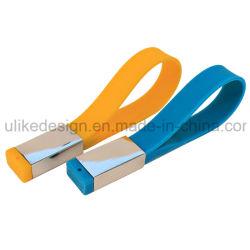 Silicon/ Pulseira de borracha disco flash USB/ Unidade de Memória Flash USB/Pen drive