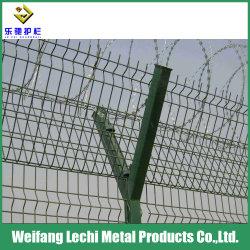 С покрытием из ПВХ низкоуглеродистой стали с колючей проволоки защитный провод сетки ограждения для фермы и аэропорта
