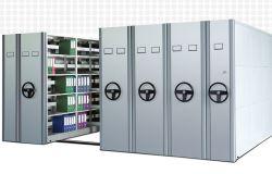 Dépôt de documents du Cabinet de stockage mobile haute capacité de chargement du fichier archive rayonnage compact en métal Rack de stockage avec fonction de verrouillage