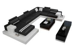 Sofá de couro moderno Fabric 7 Sofá de banco