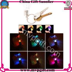 Llavero lámpara LED con llavero de regalo de promoción de Rainbow clave