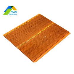 20cm de largura da ranhura do meio Imprimir forro de PVC de parede de madeira de instrumentos
