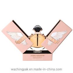 Rosa de cartón de doble puerta Perfume Pack Box Caja rígida Caja de cartón